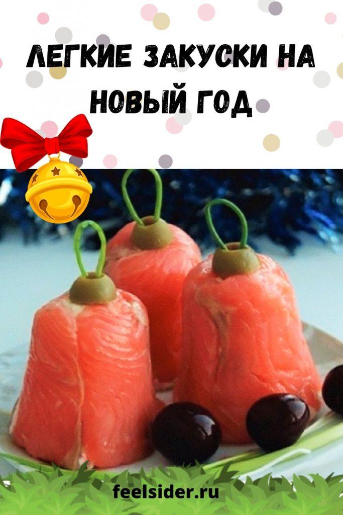 Легкие закуски на Новый год