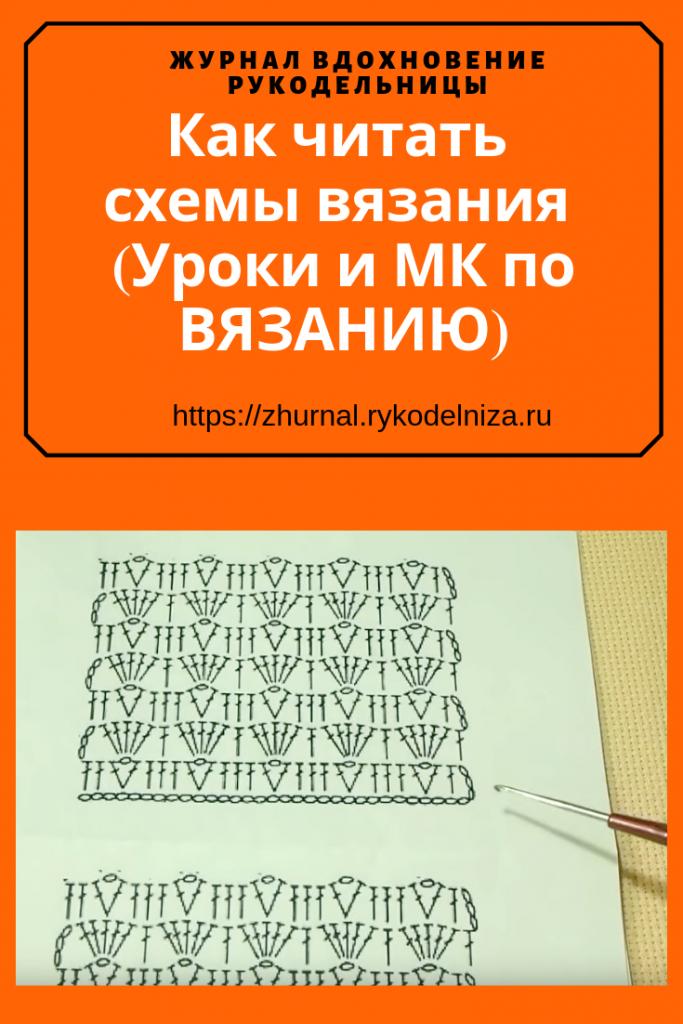 Учимся вязать крючком с нуля. Как читать схемы вязания (Уроки и МК по ВЯЗАНИЮ)