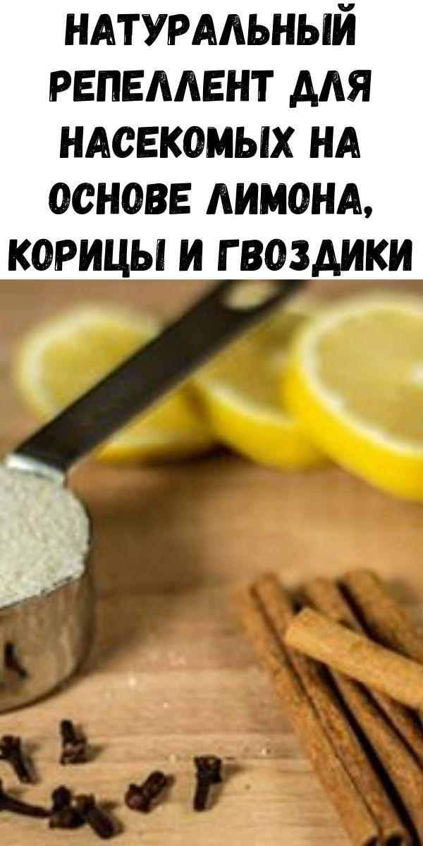 Натуральный репеллент для насекомых на основе лимона, корицы и гвоздики