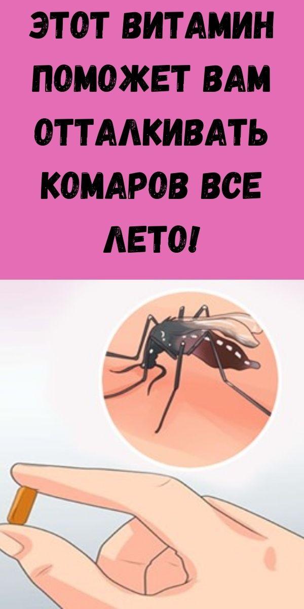 Этот витамин поможет вам отталкивать комаров все лето!
