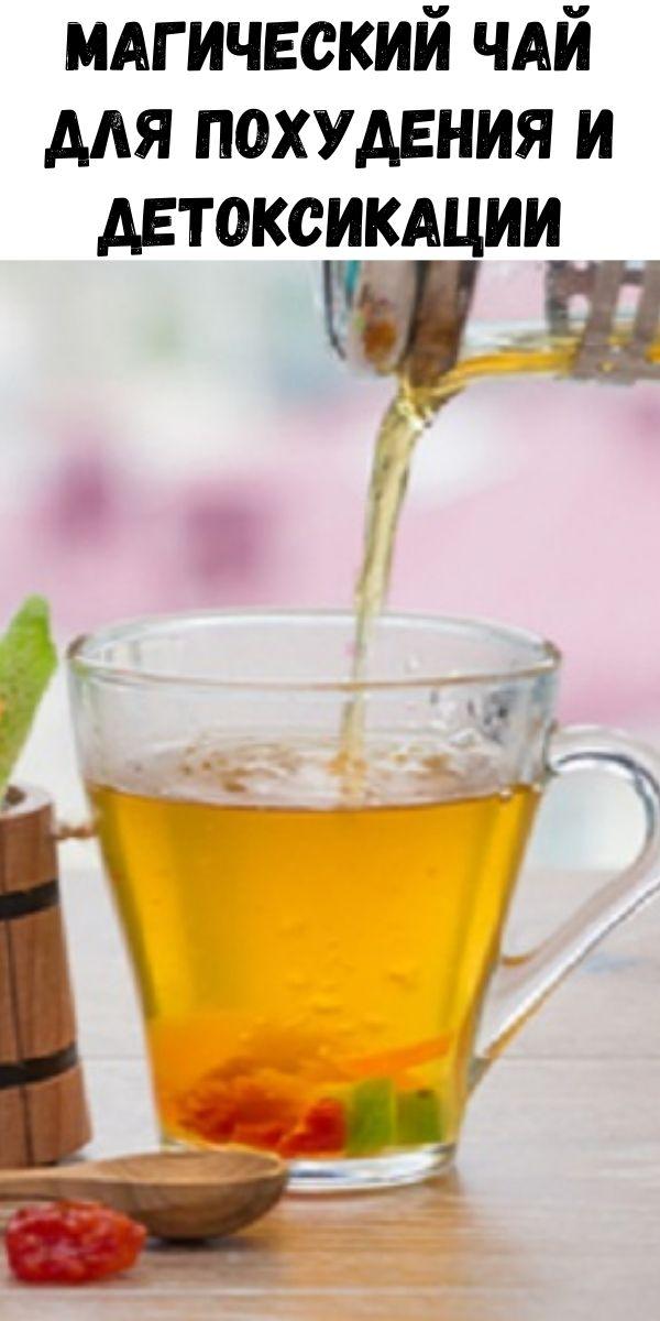Магический чай для похудения и детоксикации