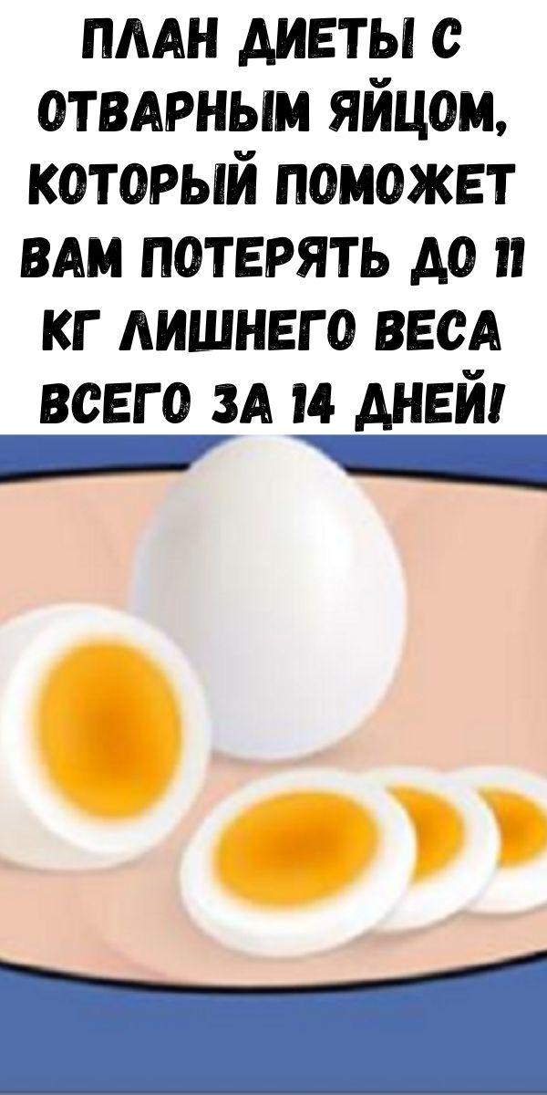 План диеты с отварным яйцом, который поможет вам потерять до 11 кг лишнего веса всего за 14 дней!