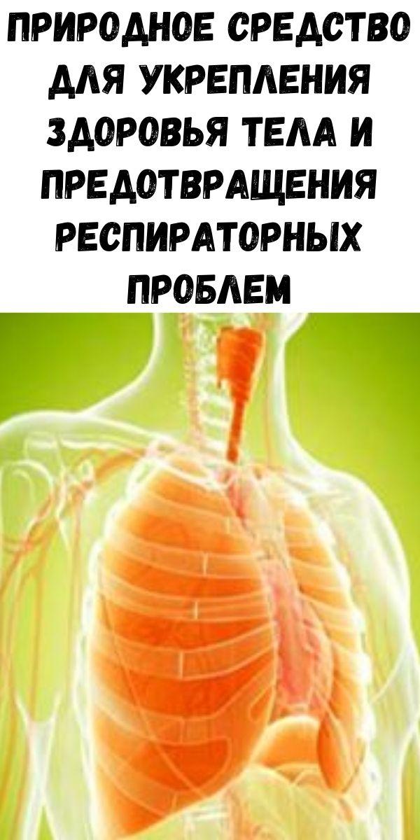Природное средство для укрепления здоровья тела и предотвращения респираторных проблем