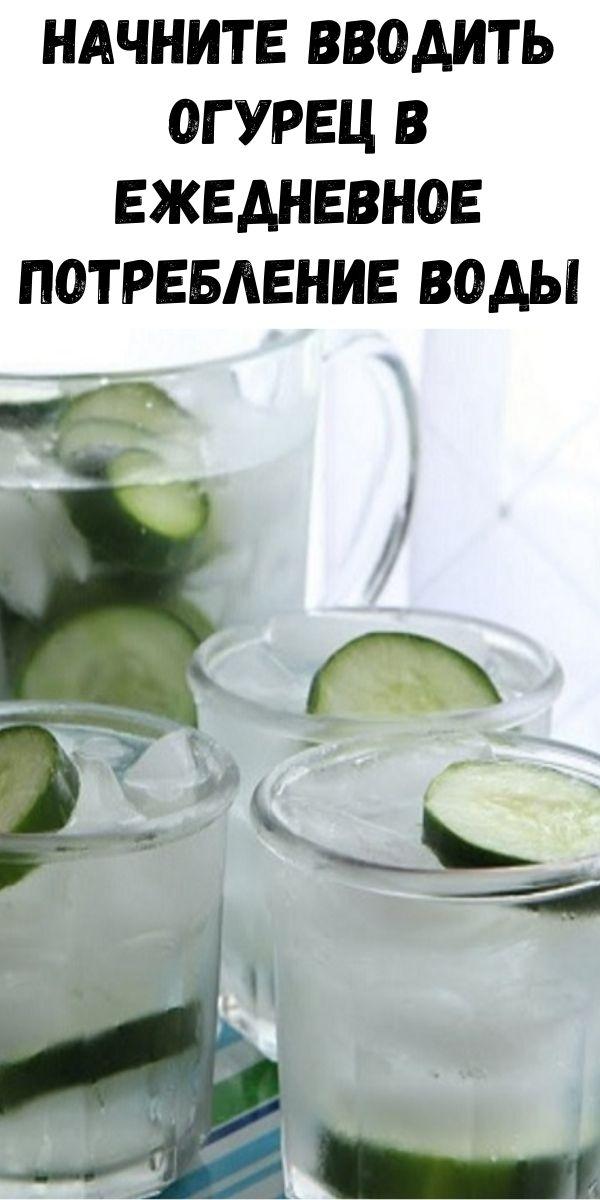 Начните вводить огурец в ежедневное потребление воды: это сжигает жир, защищает сердце и предотвращает диабет