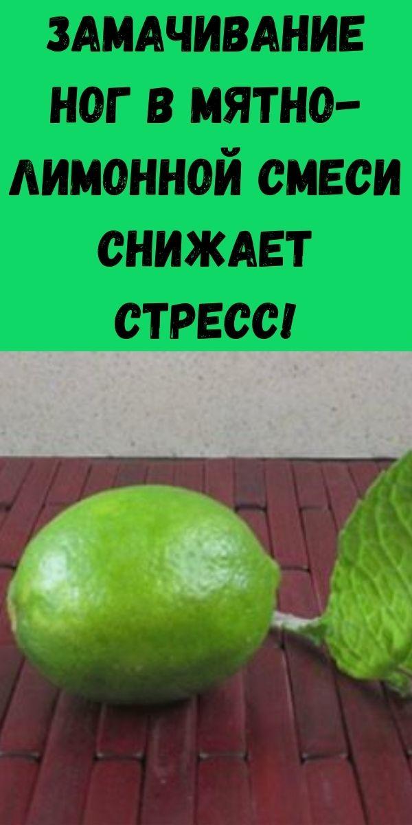 Замачивание ног в мятно-лимонной смеси снижает стресс!