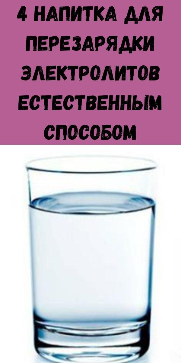 4 напитка для перезарядки электролитов естественным способом